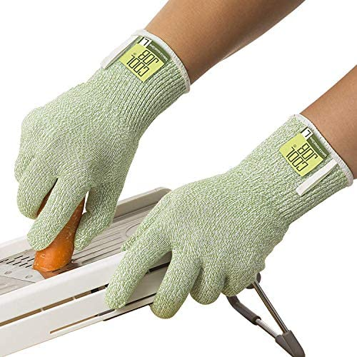 COOLJOB Cut Resistant Gloves Bamboo Cut Proof Work Gloves Food Grade Protection Cutting Gloves product image