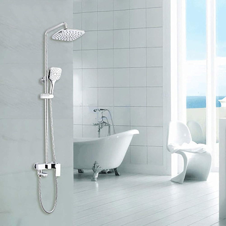 Positiver quadratischer Duschsatz Dreipunkt-Duschsatz Wasserhahn mit Dusche