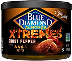 Blue Diamond Almonds XTREMES Ghost Pepper Flavored Almonds, 6 Ounce