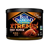 Blue Diamond Almonds XTREMES Ghost Pepper Flavored Snack Nuts, 6 Oz Resealable Cans (Pack of 1)