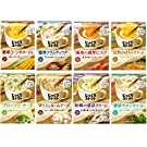 ポッカサッポロ じっくりコトコトスープ 8種アソートパック(濃厚コーン1箱(3食入)、濃厚クラムチャウダー1箱(3食入)、海老の濃厚ビスク1箱(3食入)、完熟かぼちゃクリーム1箱(3食入)、ブロッコリーチーズ1箱(3食入)、マッシュルームチーズ1箱(3食入)、牡蠣の濃厚クリーム1箱(3食入)、濃厚チキンクリーム1箱(3食入)) 計 24食入
