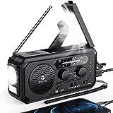 5000mAh Emergency Weather Radio Hand Crank Solar, Portable AM/FM/NOAA Battery Operated Radios for...
