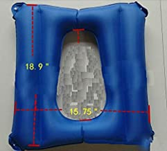 Inflatable Cushions, Elderly Cushion Anti-Bedsore, Breathable and Comfort Cushion for Wheel Chair Patients Ease Soreness, Hip Support, Leg Support, Back Support,Relieve Pressure (Blue)