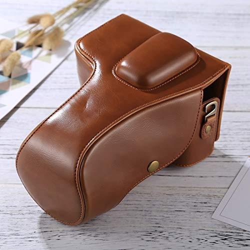 LICHONGGUI Kamerataschen Ganzkörper-Kamera PU-Ledertasche for Nikon D5300 / D5200 / D5100 (18-55mm / 18-105mm / 18-140mm) (Schwarz) (Color : Brown)