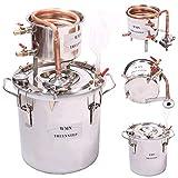 10L Kit de destilación de para el hogar destilador de cobre; para la elaboración casera de vino, alcohol, cerveza o destilación de agua