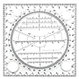 Multifunktional Zeichnung Lineal, ZoneYan Drawing Measuring Ruler, Drawing Ruler With Lines, Zeichenlineal Transparent, Schnell Messlineal, Mehrzweck Lineal...