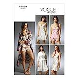 VOGUE PATTERNS V8888 - Patrones de Costura para Batas, Camisones y Pijamas de Camiseta y pantalón Corto de Mujer (Tallas 42 a 48)