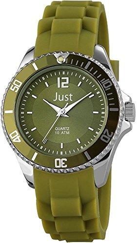 Just Watches 48-S3861-DGR - Orologio da polso da donna, cinturino in caucciù colore verde