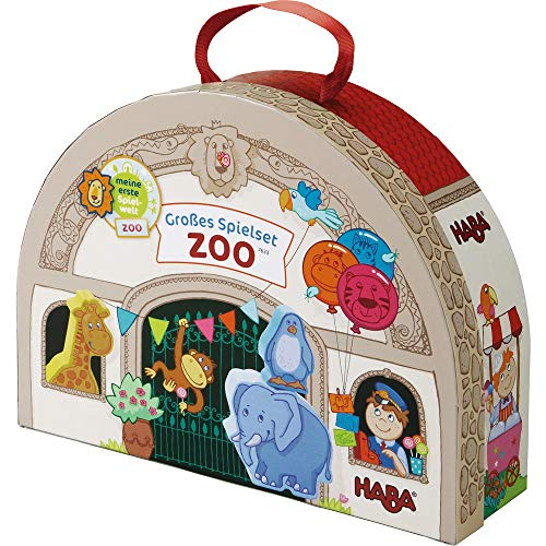 HABA 7633 - Meine erste Spielwelt Zoo - Großes Spielset