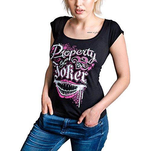 Suicide Squad Damen Girlie Shirt Property of Joker DC Comics von Elbenwald Baumwolle schwarz - XL