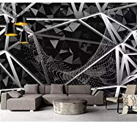 HGFHGD 画家シンプルなレトロな黒の幾何学的なステッカーウォールアート3D壁画壁紙背景壁ポスターウォールアートウォールステッカー寝室のリビングルームの装飾