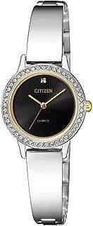 Citizen Women Black Dial Stainless Steel Band Watch - EJ6134-50E