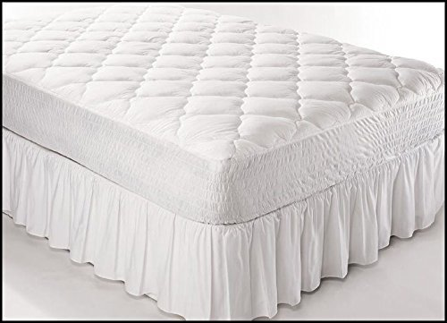 """Best Products Fitted Quilted Modern Cot Mattress Cover - Waterproof Cotton Mattress Pad (30""""X75""""X8"""")"""