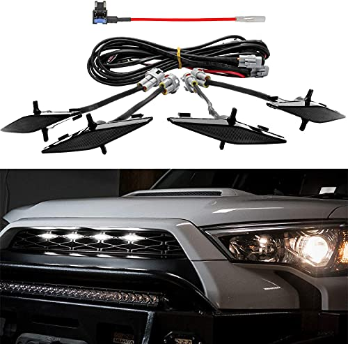 Seven Sparta 4 PCS Led Amber Lights with Fuse and Instruction for 2014-2021 Toyota 4Runner TRD Pro Grille, Including SR5, TRD off-road, Limited, TRO Pro (Black)