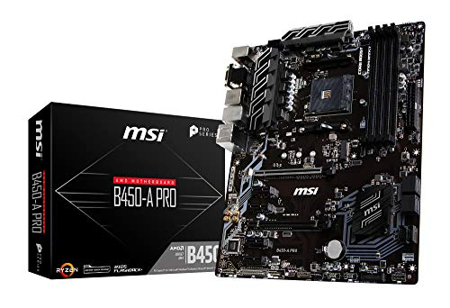 MSI B450-A PRO ATX マザーボード [AMD B450チップセット搭載] MB4698