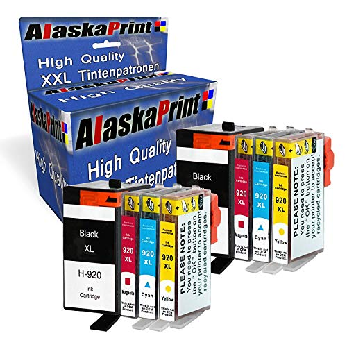 8 XXL Tintenpatronen kompatibel für hp 920xl 920 XL für HP Officejet 6000 6500 7000 7500 7500A 6500A Plus E709 Tinte Drucker Patrone mit Chip und Füllstandsanzeige