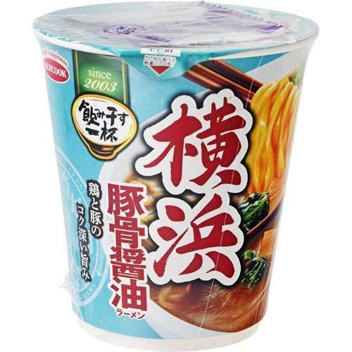 タテ型飲ミ干ス横浜豚骨醤油ラーメン 68g 12入リ