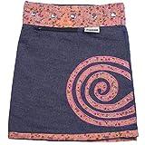 Sunsa Mädchen Rock Minirock Jeansrock Wende-Wickelrock Sommerrock kurz, Mini Jeans Mädchenrock Girls Skirt, 2 Kinder Röcke in einem, Verstellbarer Größe, Kid's Coole Sachen, Geschenk 15707