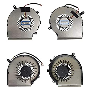 Todiys CPU + GPU Cooling Fan for MSI GL62 6QD 6QE 6QF Series GL62 6QD-002CZ 6QD-018CA 6QD-044RU 6QD-078XTR 6QD-483XFR 6QE-646IT 6QE-1047MY 6QE-1804CZ 6QF-622FR 6QF-627US 6QF-631NE 6QF-825MY 6QF-1446US