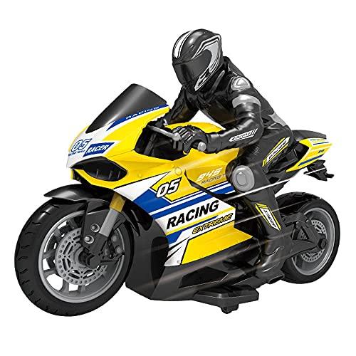 YUMOYA Control remoto truco motocicleta RC motocicleta 360 ° Spinning acción giratoria deriva truco moto Hobby RC Cars 2WD alta velocidad Control remoto coche juguete para niño y niña