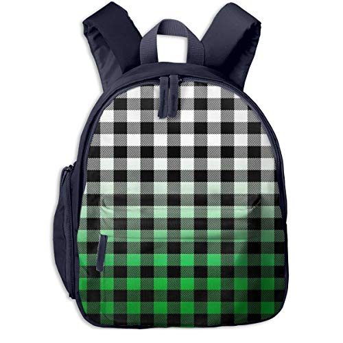 Kinderrucksack Kleinkind Jungen Mädchen Kindergartentasche Ombre Buffalo Plaid Backpack Schultasche Rucksack