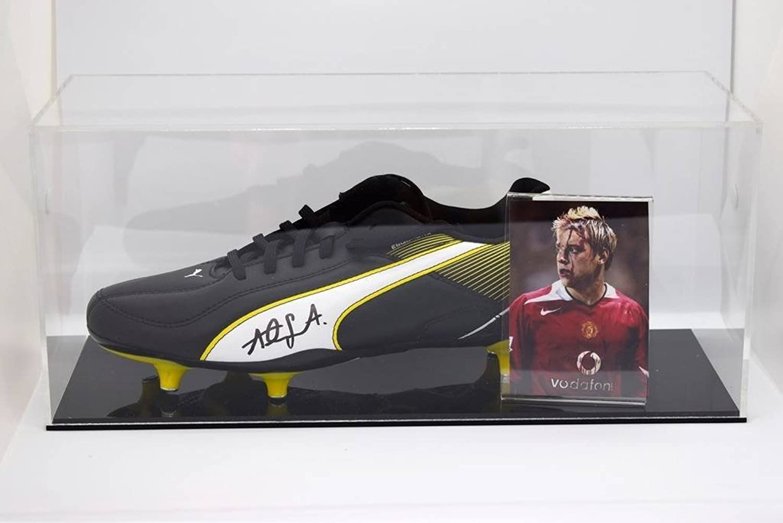 Sportagraphs Alan Smith Signed Autograph Football Boot Display Case Manchester Utd COA