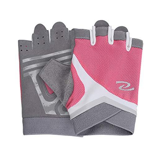 NA Gepolsterte Grip Fingerless Gym Handschuhe für Frauen und Männer zum Gewichtheben Cross Training Radfahren