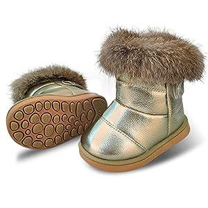 [WYSBAOSHU] キッズブーツ スノーブーツ 子供 保暖 防滑 防寒 防水 暖かい キッズ 男の子 女の子 ベビー 中綿入り 雪用 裏起毛 雪遊び 通学 外出 冬靴 裏ボア加工 滑り止め プレゼント 贈り物 クリスマス