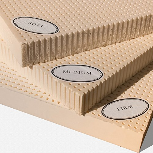 100% Natural Latex Mattress Topper - Medium - 3' Queen