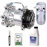 AC Compressor & A/C Repair Kit For GMC Sierra Yukon Chevy Tahoe Silverado Cheyenne C/K Pickup 1996 1997 1998 1999 2000 - BuyAutoParts 60-80104RK New