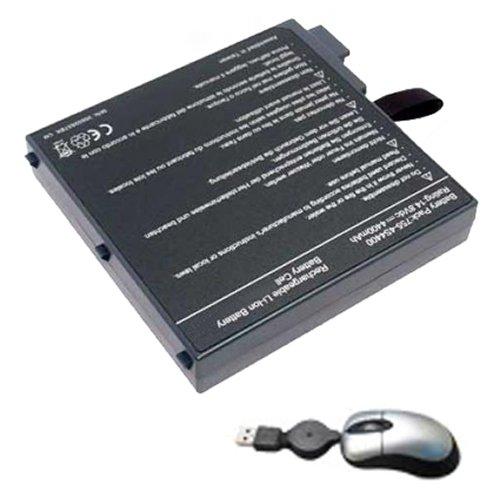 amsahr UN755-05 vervangende batterij voor Fujitsu UN755, 23-UD4000-3A, 23-UD4200-00, 23UD40003A - Omvat Mini Optische muis zwart