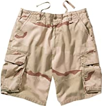 Military Camouflage/Solid Color Vintage Army Paratrooper Military Cargo Shorts