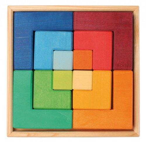 Puzzle y piezas de construcción Cuadrado