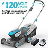 SWIFT 120V EA1422 Cordless Lawnmower Hand Propelled Lawn Mower Cutting Width 42cm (include Samsung Battery and...
