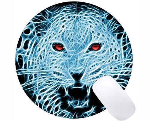 Rectangle Mouse Pads for Computers Laptop,Animal Leopard Fractal Mousepad Non Slip Rubber