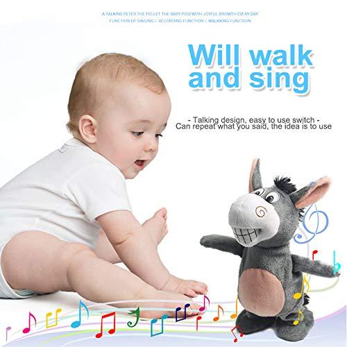 Hablar burro, Regalo divertido paseo grabación de voz Hablar burro juguetes de peluche interactivo burro juguete