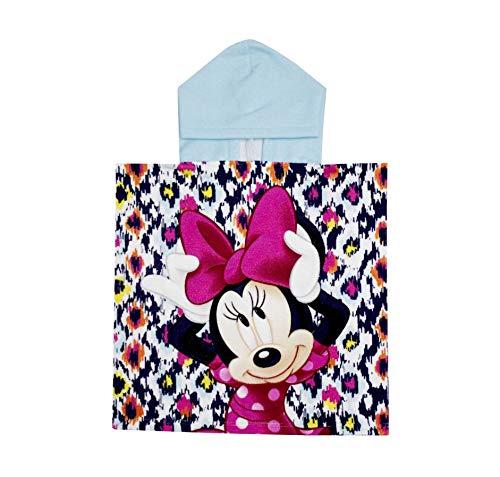 TEXTIL TARRAGO Toalla Capucha Disney Minnie Mouse 50x100 cm 100% Polyester ET1743-2
