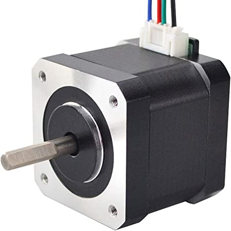 STEPPERONLINE Nema 17 Stepper Motor 1.5A 63.74oz.in 39mm Body with 1m Cable and Connector for DIY CNC/ 3D Printer