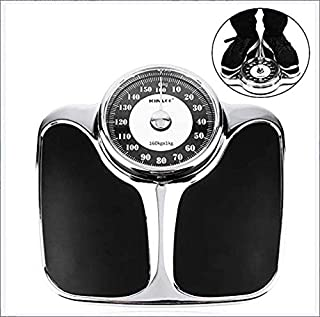 Bathroom Scale Extra-Large Dial Analog Precision Scale, 160KG Capacity,Never Need Replacement Batteries (Black)