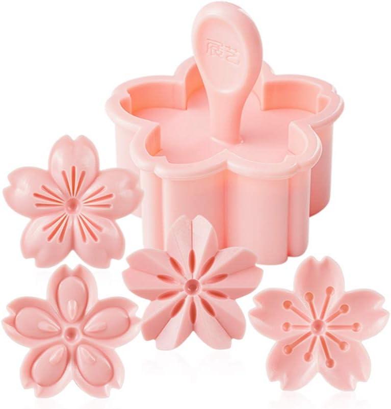 5pcs Set Sakura Cookie Mold Pastry B Fondant Cherry Stamper Max 40% SALENEW very popular! OFF Pink