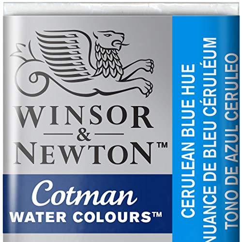 BIC 301696 Cotman Colori Acquerello, Viridian, Blu (Bleu céruléum), 1.9x1.6x1.1 cm