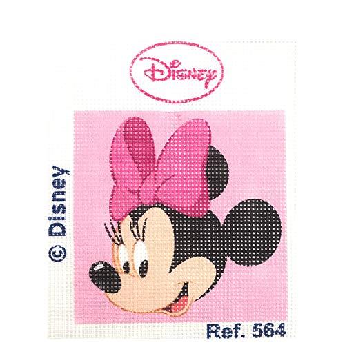 Haberdashery Online Kit Medio Punto para niños, 18 x 15 cms. Colección Minnie Mouse - Modelo 564