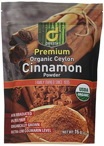 Organic Ceylon Cinnamon Powder - Family Owned Since 1935 - 1 Lb. in a Handy Re-sealable Pouch