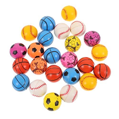 TOYANDONA 24 Unids Bolas Hinchadas Bolas de Rebote Mini Baloncesto Béisbol Baloncesto Fútbol Bolas de Salto para Los Deportes Traning Kids Fiesta de Cumpleaños Favores Premios Regalo de