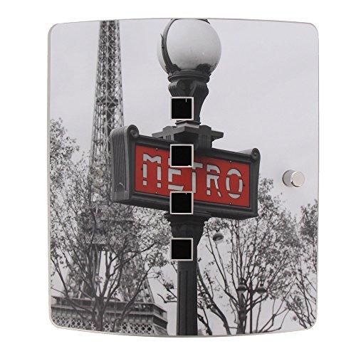 """Burg-Wächter 38960""""6204/10 Ni Paris Metro Motivschlüsselbox, Schwarz/Edelstahl"""