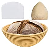 Vaorwne Pan de 9 Pulgadas Banneton Proofing Basket-Proving Baskets-Banneton Proofing Basket-Sourdough Basket Set