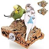 Vogelgaleria® Doppelpack Korksitzbretter 10x10cm Zubehör Set für den Vogelkäfig | Kork Sitzbrett für Wellensittich Nymphensittich aus Naturkork | Das perfekte Zubehör für Vögel | Korkbrett Korksitz