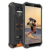 "OUKITEL WP5 Rugged Smartphone in Offerta,5.5"" FHD+ IP68 Outdoor Smartphone Robusto,Batteria da 8000 mAh 4 LED Flash Cellulare, Quad-core 4GB +32GB Telefonia,Dual 4G,GPS(Arancione)"