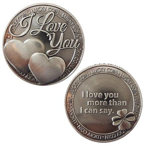 Gedenk-Liebes-Münzen-Liebes-Wörter