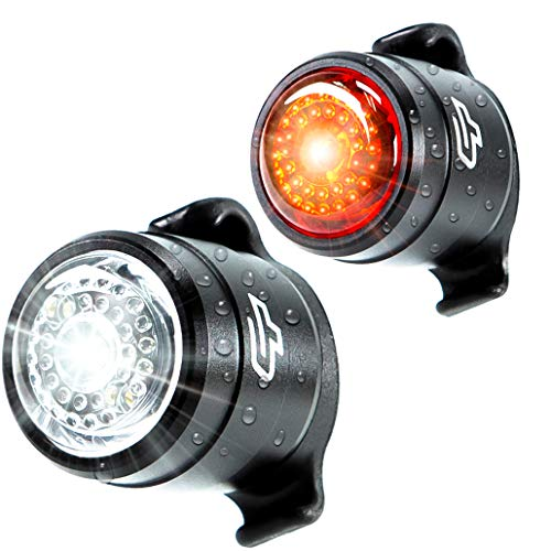 Cycle Torch Bolt Combo, USB Rechargeable Bike Light Front and Back, Safety Bicycle LED Headlight & Rear Tail Light, Bike Lights Set, Easy to Install for Men, Women, Kids (2 PC)